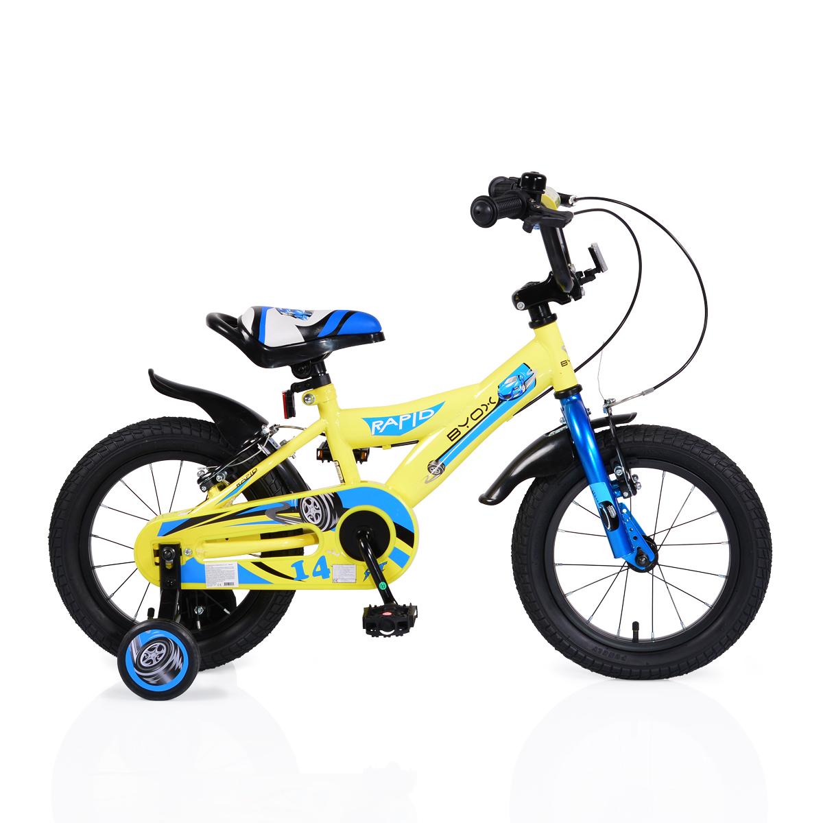 a3439d78a56 Byox детски велосипед с помощни гуми Rapid (14 инча) MONI-104507 ...